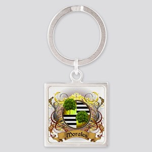 Morales Family Crest Square Keychain