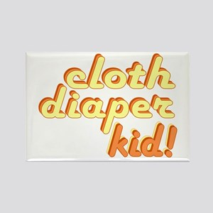 Cloth Diaper Kid Rectangle Magnet