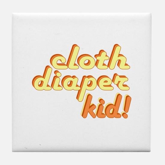 Cloth Diaper Kid Tile Coaster