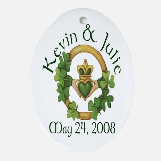 Kevin & Julie Ornament (Oval)