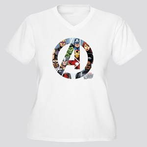 Avengers Assemble Women's Plus Size V-Neck T-Shirt