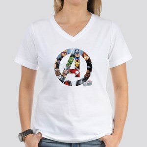 Avengers Assemble Women's V-Neck T-Shirt