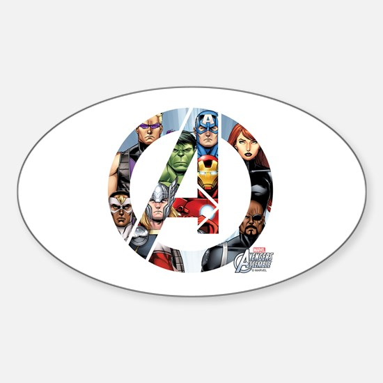 Avengers Assemble Sticker (Oval)