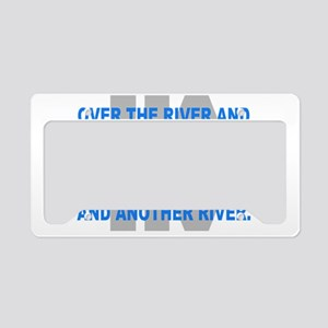 Over the River Cross Country  License Plate Holder