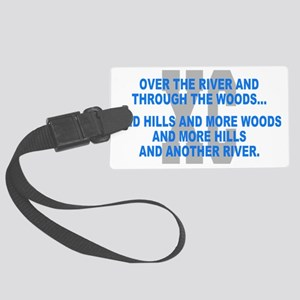 Over the River Cross Country Quo Large Luggage Tag
