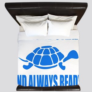 Slow and Steady Always Ready Running King Duvet