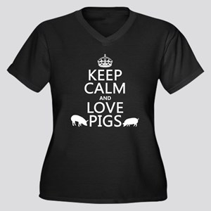 Keep Calm and Love Pigs Plus Size T-Shirt