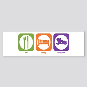 Eat Sleep Concrete Bumper Sticker