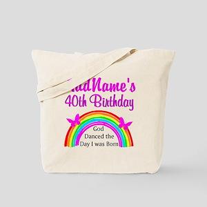 DELIGHTFUL 40TH Tote Bag