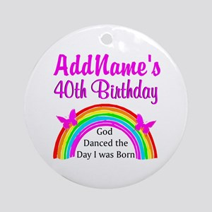 DELIGHTFUL 40TH Ornament (Round)