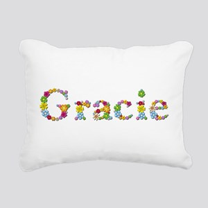 Gracie Bright Flowers Rectangular Canvas Pillow