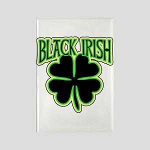 Black Irish with Huge Shamrock Rectangle Magnet