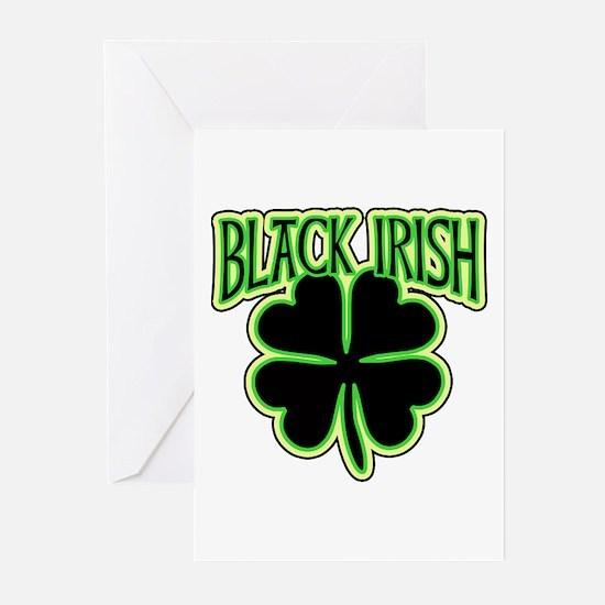 Black Irish with Huge Shamrock Greeting Cards (Pk