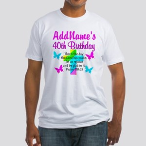 LOVING GOD 40TH Fitted T-Shirt