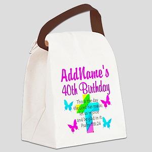 LOVING GOD 40TH Canvas Lunch Bag