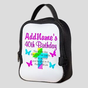LOVING GOD 40TH Neoprene Lunch Bag