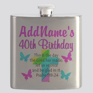 LOVING GOD 40TH Flask