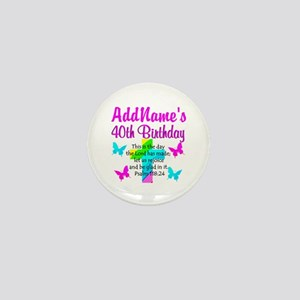 LOVING GOD 40TH Mini Button