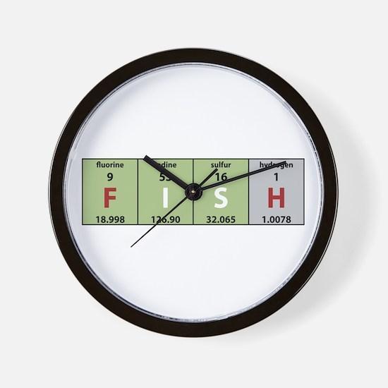 Chemical Fish Wall Clock