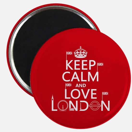 Keep Calm and Love London Magnets
