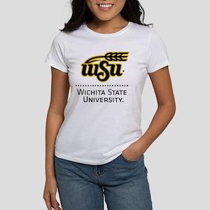 WSU Wichita State Un Women's Classic White T-Shirt