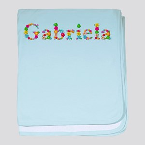 Gabriela Bright Flowers baby blanket