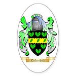 Eichenholz Sticker (Oval 50 pk)