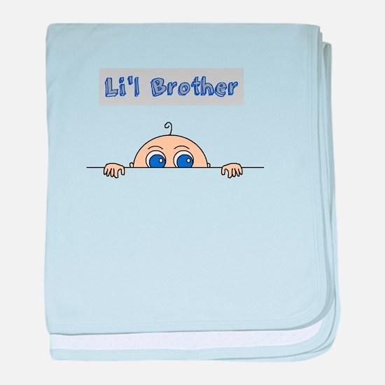 Lil Brother (Light Skin) baby blanket