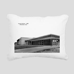 Lincoln School Rectangular Canvas Pillow