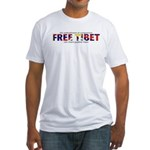 For A Free Tibet: Fitted T-Shirt