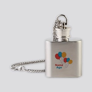 CUSTOMIZE Happy Birthday Any Age Flask Necklace
