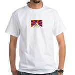 For A Free Tibet: White T-Shirt (f&B)