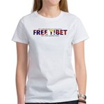 For A Free Tibet: Women's T-Shirt (f&B)