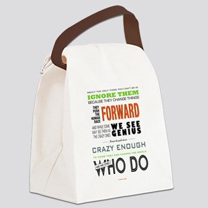 Think Different Canvas Lunch Bag