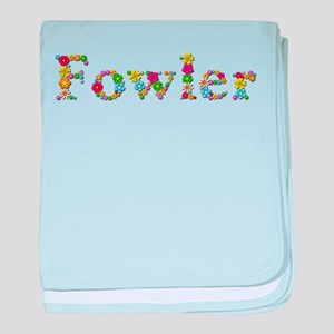 Fowler Bright Flowers baby blanket
