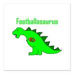Footballasaurus Square Car Magnet 3