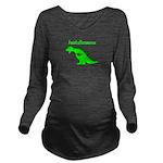 Footballasaurus Long Sleeve Maternity T-Shirt