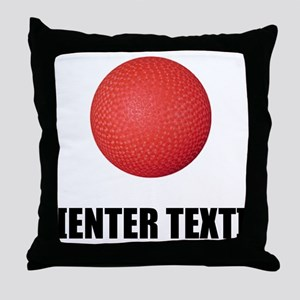 Kickball Personalize It! Throw Pillow