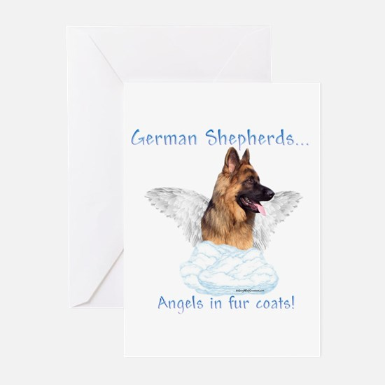 GSD Angel Greeting Cards (Pk of 10)