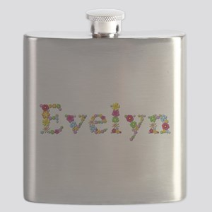 Evelyn Bright Flowers Flask