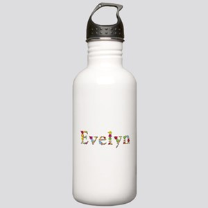 Evelyn Bright Flowers Water Bottle