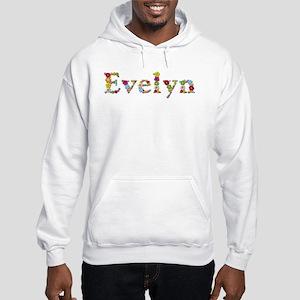 Evelyn Bright Flowers Hoodie