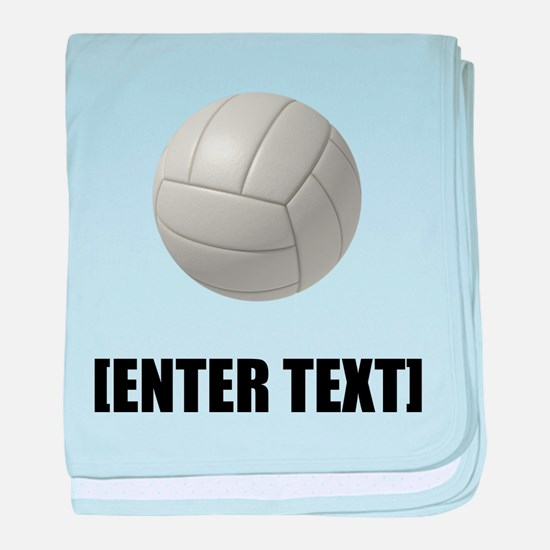 Volleyball Personalize It! baby blanket