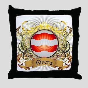 Rivera Family Crest Throw Pillow