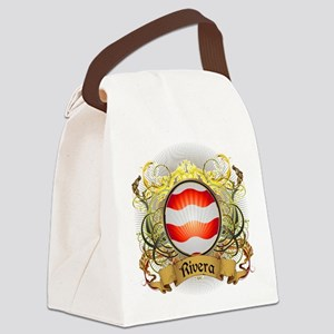Rivera Family Crest Canvas Lunch Bag