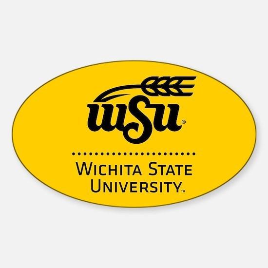 WSU Wichita State University Sticker (Oval)