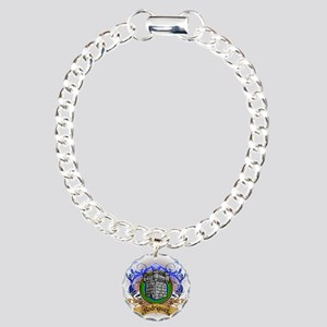Rodriguez Family Crest Charm Bracelet, One Charm