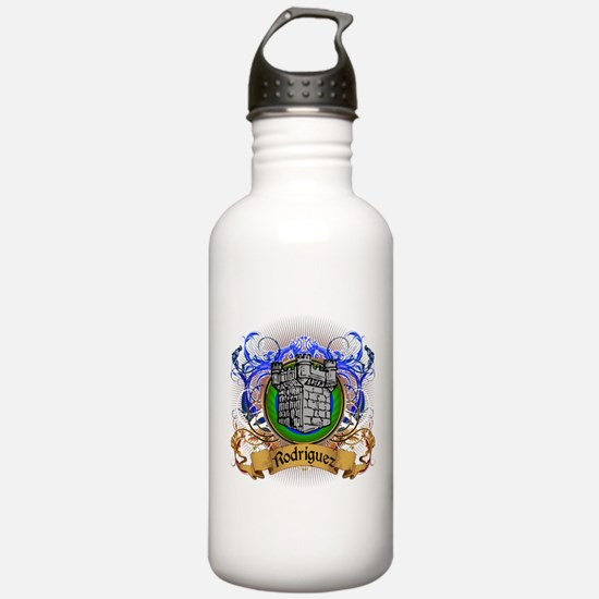 Rodriguez Family Crest Water Bottle