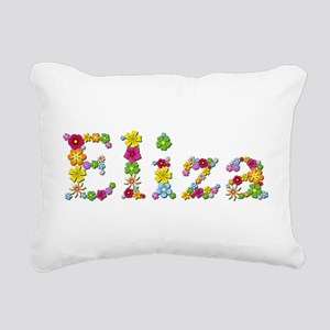 Eliza Bright Flowers Rectangular Canvas Pillow