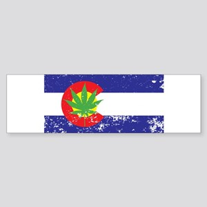 Colorado State Flag, Marijuana, Pot Leaf Sticker (